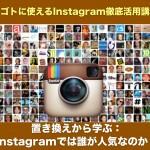 置き換えから学ぶ:Instagramでは誰が人気なのか?